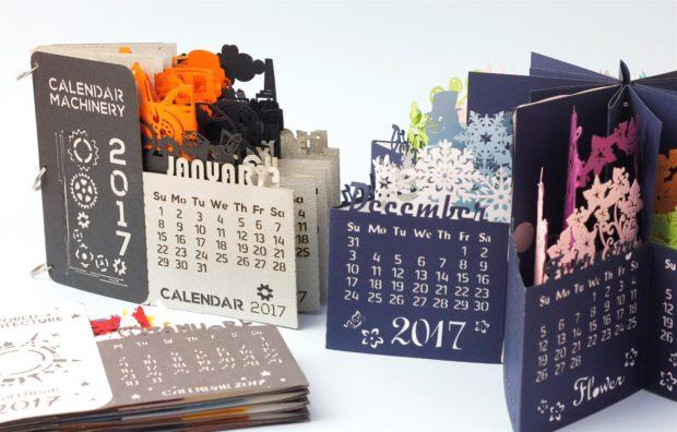 pop up cards calendar