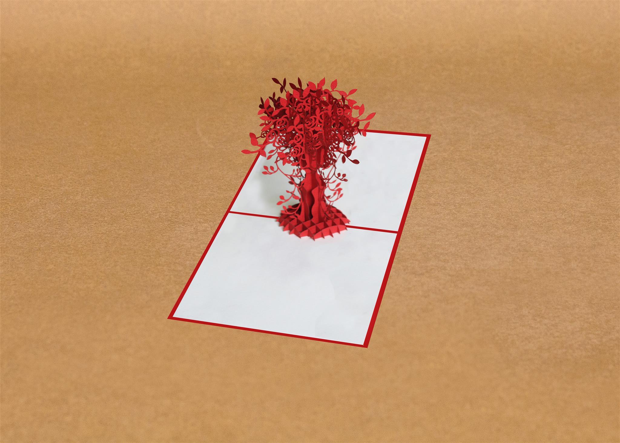 special value of pop up flower card