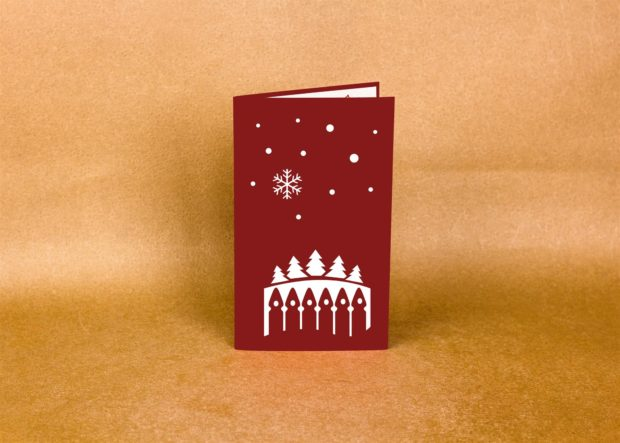 new year pop-up card