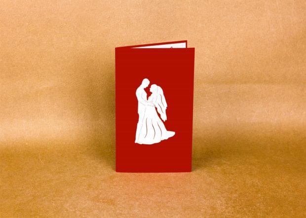wedding pop-up cards